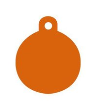 Rund Orange, 2 cm