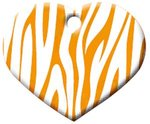 Herz Zebra Orange, 4 x 3 cm