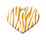 Herz Zebra Orange, 2,5 x 2 cm