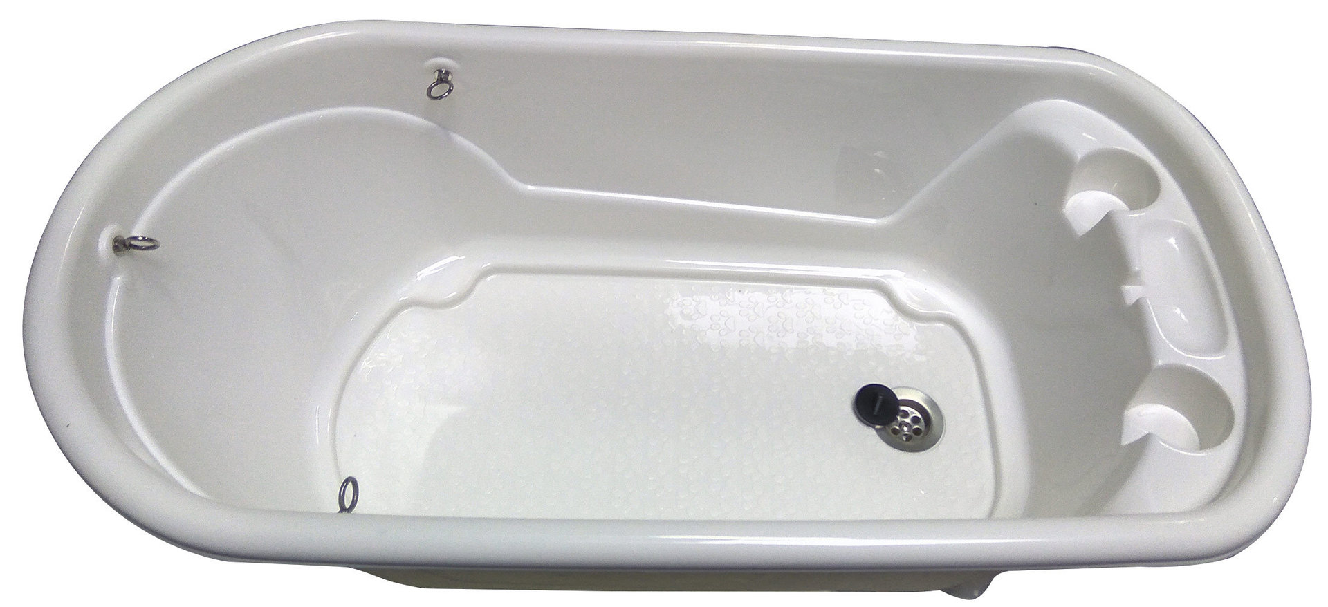 Pvc Badewanne Für Kleine Hunde 96 X 50 X 91 Cm Weiß